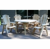 Rustic White Cedar Log Dining Set w/ Chairs - Available to Ship Aug 30