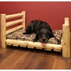 Rustic White Cedar Log Dog Bed
