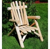 Rustic White Cedar Log Lounge Chair