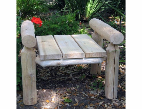 Rustic White Cedar Log Ottoman - Out of Stock 'til July 5