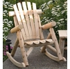 Rustic White Cedar Log Rocking Chair - Out of Stock til Beginning of Aug