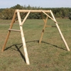 Rustic White Cedar Log Swing A Frame