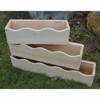 Scalloped Cedar Window Box Planter: 3 Sizes - Currently Out of Stock