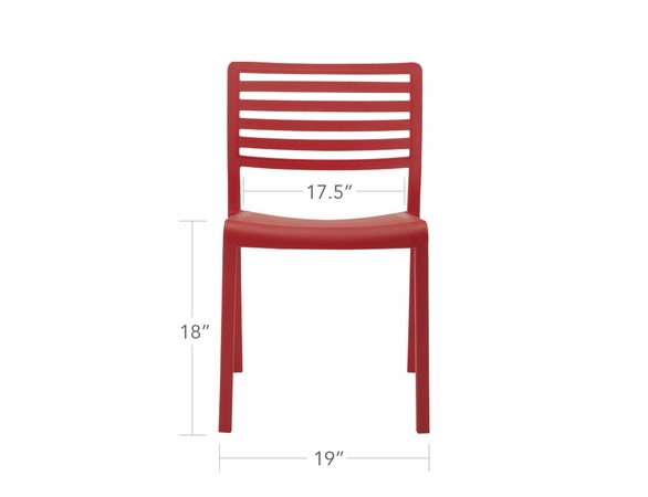 Source Furniture Savannah Molded Dining Chair - Set/4