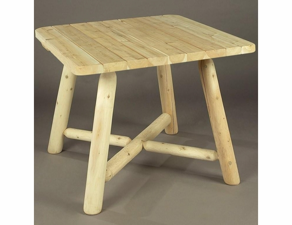 "Log Style 37"" Square Dining Table"
