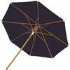 Royal Teak 10' Deluxe Market Umbrella - Navy, Granite & Off White Options