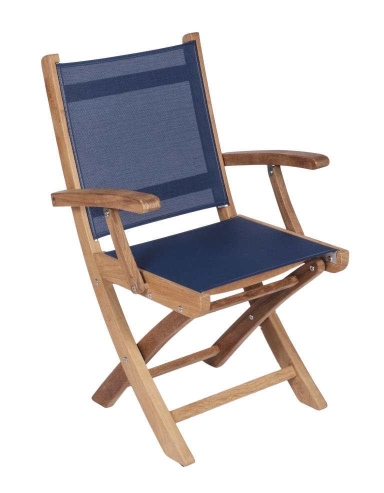 Teak Sailmate Folding Armchair–OutdoorFurniturePlus.com