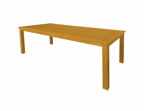 Three Birds 11-Piece Newport Rectangular Table with Riviera Sling Chairs Dining Set - Estimated Available to ship in Aug
