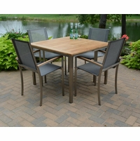 """Three Birds 40"""" Square Avanti Table and 4 Chairs Dining Set - Estimated Available to ship in Aug"""