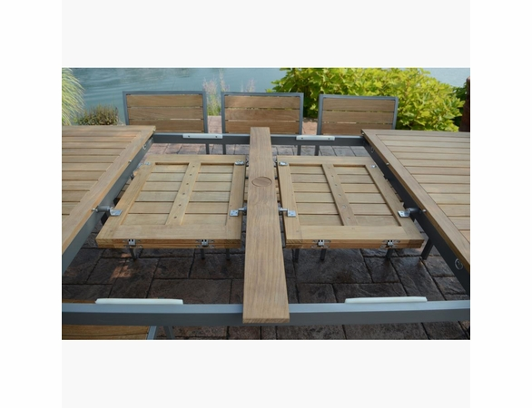 Three Birds 9 Piece Soho Teak Extension Table Dining Set