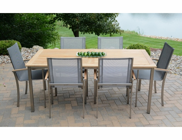 """Three Birds Avanti 72"""" Table with 6 Chairs Dining Set - Estimated Available to ship in Sept"""