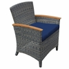 Three Birds Bella Wicker Dining Arm Chair - Available to ship in Aug