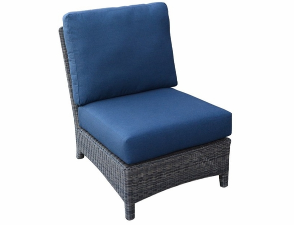 Three Birds Bella Wicker Sectional Armless Chair