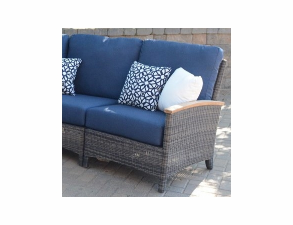 Three Birds Bella Wicker Sectional Right Side Facing Arm Chair