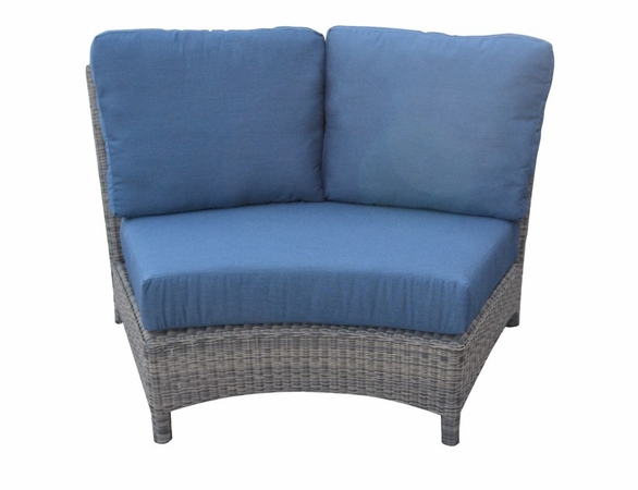 Three Birds Bella Wicker Sectional Wedge Armless Chair