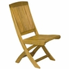 Three Birds Braxton Teak Folding Side & Arm Chair - Available to Ship end of Nov