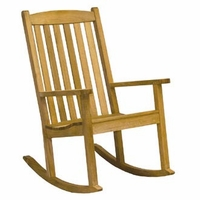Three Birds Brittany Teak Rocker - Estimated Available to ship in Late June
