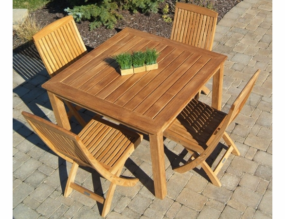Three Birds Brunswick 4 Person Dining Set - Estimated Available to ship in Aug