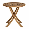"Three Birds Cambridge Teak 30"" Round Folding Bistro Table - Available to Ship Mid Jan"