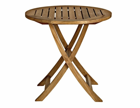 "Three Birds Cambridge Teak 30"" Round Folding Bistro Table"
