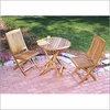 Three Birds Cambridge Teak Bistro Set - Available to ship in Late June