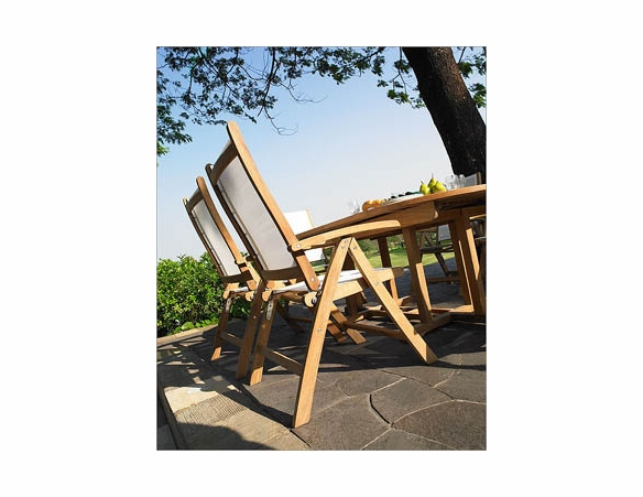 Three Birds Camden Riviera Teak Dining Set - Available to Ship in Sept
