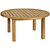 "Three Birds Canterbury Teak 36"" Round Coffee Table - Available to Ship end of Nov"