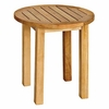 "Three Birds Canterbury Teak Tall 20"" Side Table - Available to Ship Mid Jan"