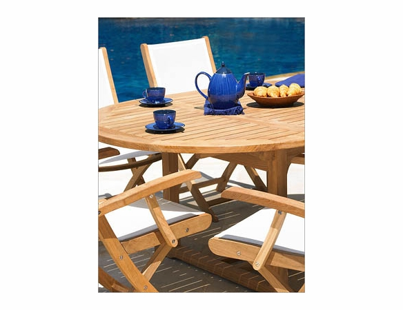 Three Birds Chelsea Riviera Teak Dining Set - Available to Ship in Sept