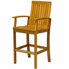 Three Birds Monterey Teak Bar Armchair - Estimated Available to ship in June