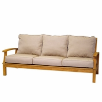 Three Birds Monterey Teak Deep Seating 3-Seater Sofa