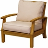 Three Birds Monterey Teak Deep Seating Armchair - Estimated Available to ship in Aug