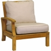 Three Birds Monterey Teak Sectional Left Side Facing Armchair - Estimated Available to ship in Aug