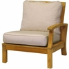 Three Birds Monterey Teak Sectional Right Side Facing Armchair - Estimated Available to ship in Aug