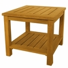 "Three Birds Newport Teak 22"" Table with Shelf"
