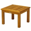 "Three Birds Newport Teak Low 20"" Square Side Table"
