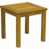 """Three Birds Newport Teak Tall 20"""" Square Side Table - Available to Ship Mid Jan"""