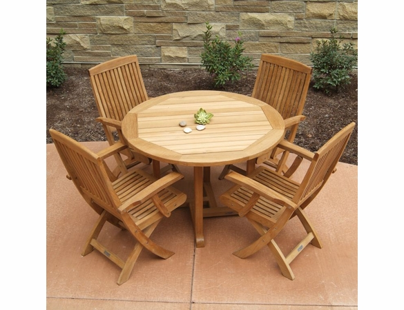 """Three Birds Oxford 42"""" 5-Piece Dining Set - Available to ship in Late June"""