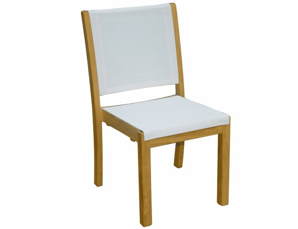 Three Birds Riviera Sling Stacking Side Chair - Set of 2