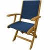 Three Birds Riviera Teak Folding Armchair - Available to Ship in Sept