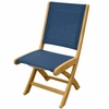 Three Birds Riviera Teak Folding Side Chair - Available to Ship in Sept