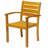 Three Birds Sedona Teak Stacking Armchair - Set of 2 - Available to Ship in Mid July
