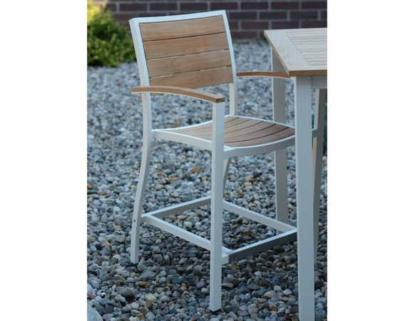 Three Birds Soho Teak Counter Heght Arm Chair