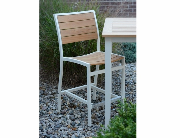 Three Birds Soho Teak Counter Height Side Chair
