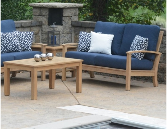 Three Birds St. Lucia Teak Deep Seating Loveseat - Estimated Available to ship in Aug