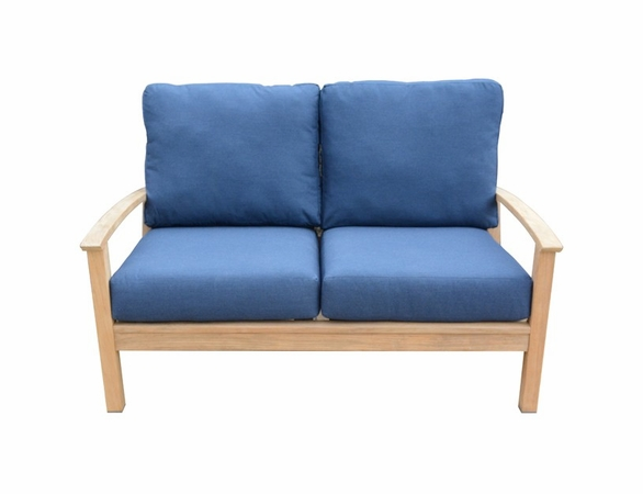 Three Birds St. Lucia Teak Deep Seating Loveseat - Currently Unavailable
