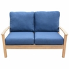 Three Birds St. Lucia Teak Deep Seating Loveseat