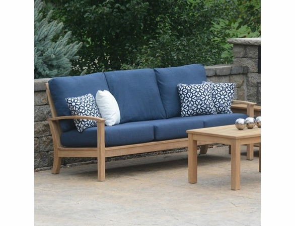 Three Birds St. Lucia Teak Deep Seating Sofa