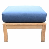 Three Birds St. Lucia Teak Ottoman - Estimated Available to ship in Aug
