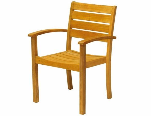 Three Birds Teak 9-Piece Newport Square Table with Sedona Stackable Arm Chairs Dining Set - Estimated Available to ship in July/Aug